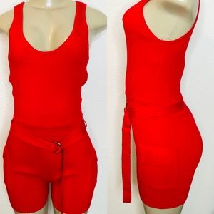 NWT RED ROMPER